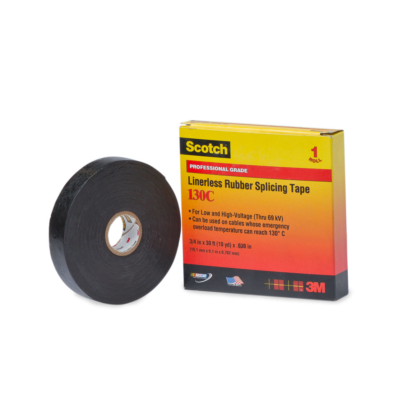 3m Linerless Rubber Splicing Tape 130c 3 4 Quot X30 Tap130c
