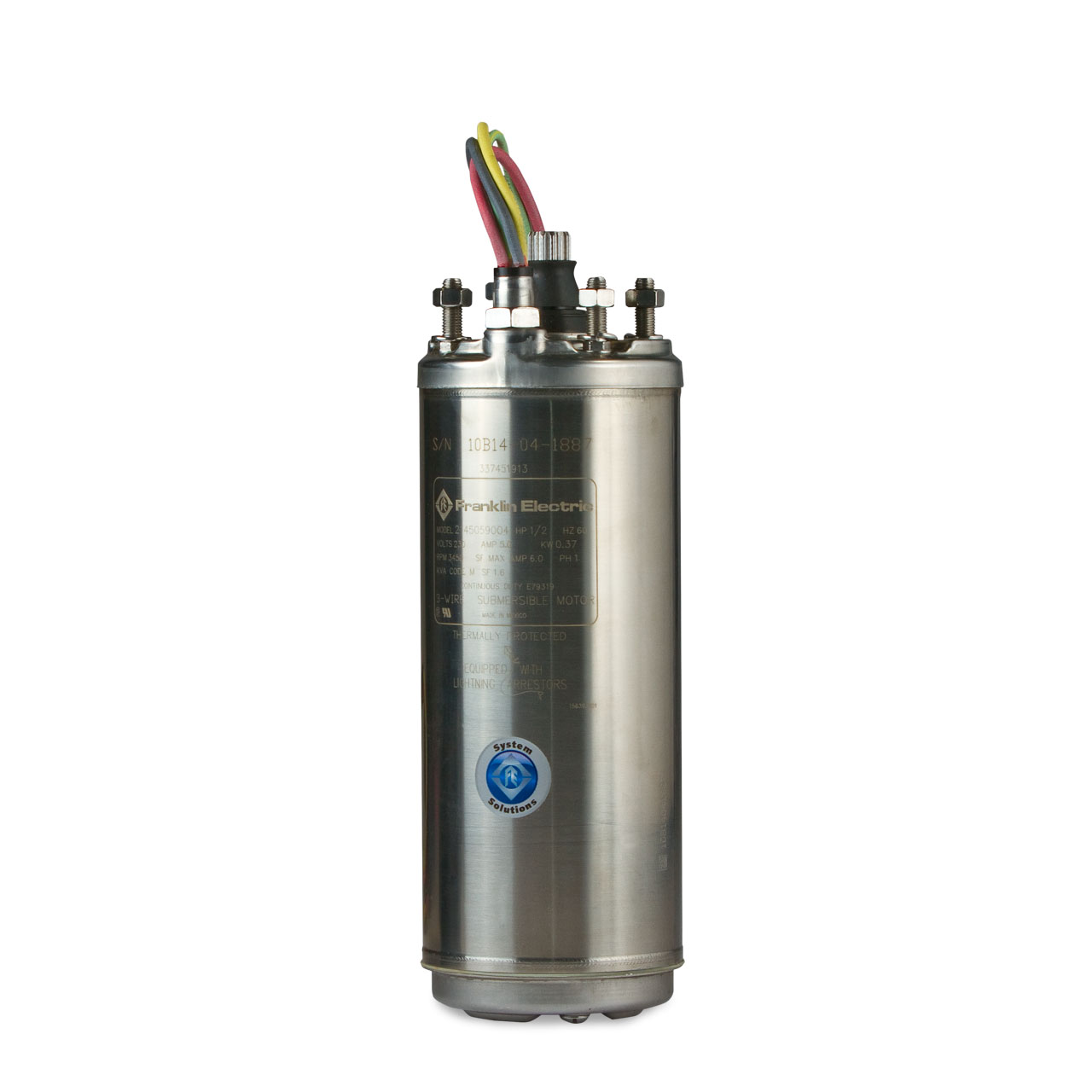"Franklin Electric - Franklin Electric 2445079004 Super Stainless Water Well  Motor 4"" 0.75 HP 230V 2-Wire Single-Phase #FEC2445079004"