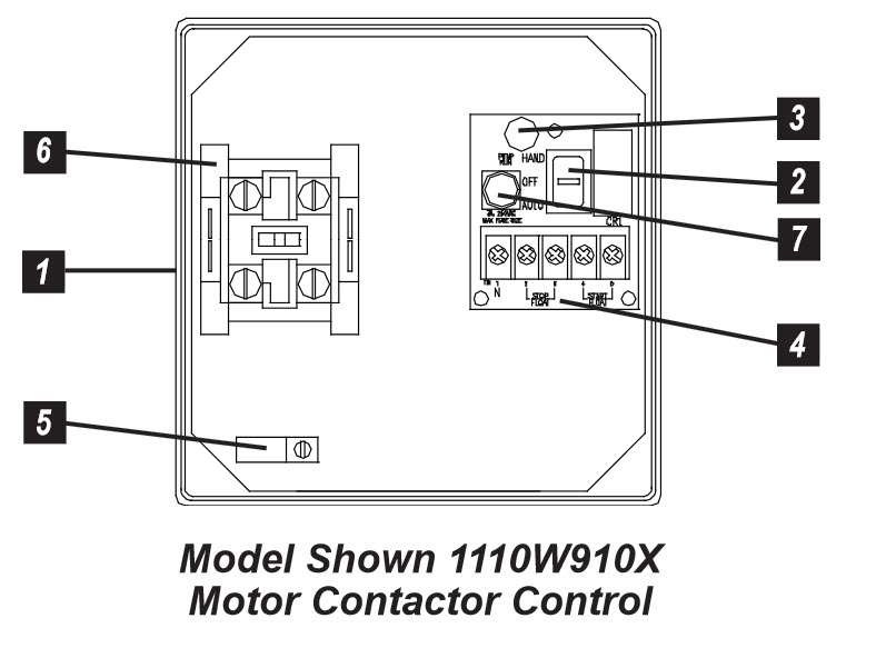 sje rhombus sje rhombus model 111 simplex single phase motor sje rhombus model 111 single phase simplex motor contactor or pump switch control panel components