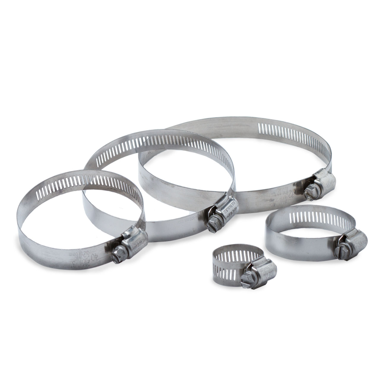 """Various Hose Clamp Mfrs. - Stainless Steel Hose Clamp Hex 1/2"""" to ... for Hose Ring Clamp  146hul"""
