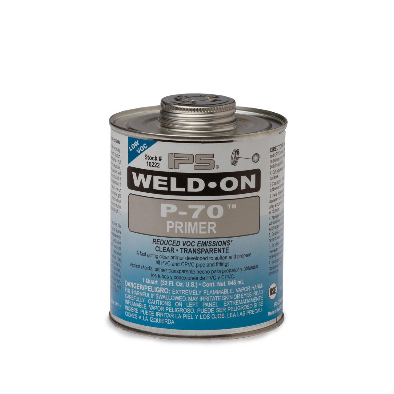 Weld On Weld On 10222 P 70 Clear Primer Quart Wonp70cq