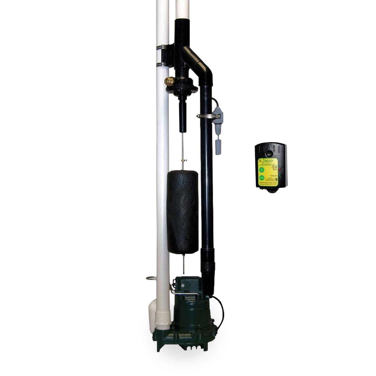 Sump Pump Systems : Sump pump backup system zoeller