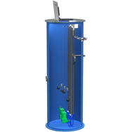 "Automated Flow Systems (AFS) 48"" Diameter Lift Station Internal Valving 2"" SCH80 PVC Discharge AFS, Automated Flow Systems, Lift Station 48 inch Diameter 2  Inch Discharge"