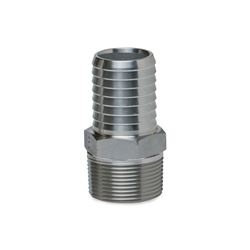 "BII SSMA-125 Stainless Steel Male Adapters 1.25"" MPT x 1.25"" INS  Stainless Steel, Insert, insert fittings, ss fittings, ss insert, 90, slip slip, male adapter, ma, steel insert, brass insert, no lead"