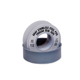 "PTFE Gray Stainless Steel Thread Seal Tape 1/2""X260"" tape, PTFE, PTFE tape, stainless steel tape, high density tape, thread seal tape, tape, thread seal, pipe dope, thread tape, thread seal, seal tape"