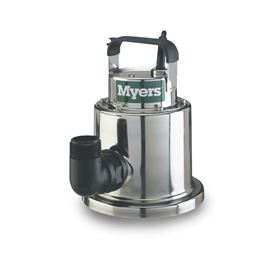 Myers DU25M1 Stainless Utility Pump 0.4 HP 115V Manual Myers DU25, DU25, utility pump, dewatering pump
