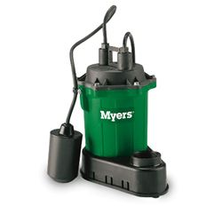 Myers S33P-1 Sump Pump 0.33 HP 115V 10' Cord Automatic Myers S33A1, S33V1, S33P-1, S33M1C, S33A1C, S33V1V, S33PC-1, S33PV-1, sump pump, utility pump, dewatering pump, basement pump