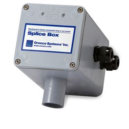 Orenco SB1 Internal Electrical Splice Box with 1 Cord Grip splice box, orenco splice box, hand hole, Internal splice box, wiring box, electrical box, sewer splice box