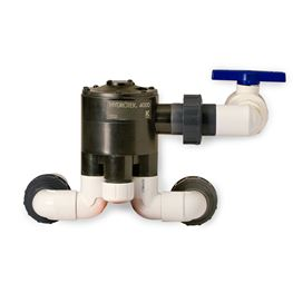 "Orenco V4402A Automatic Distributing Valve 1.25"" Inlet & Outlets 10-40 GPM Flow Range 2 Zone Hydrotek valve, orenco distribution valves, distributing valves, drainfield valves, automatic valves, zone valves, orenco zone valves"