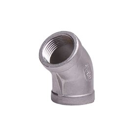 "304 Stainless Steel 45° Elbow 3/4"" elbow, stainless steel fitting, stainless steel elbow, stainless steel 304, 304, threaded, threaded pipe fitting, ninety degree elbow, SSLL9007"