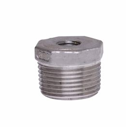 "304 Stainless Steel Bushing 1"" x 1/2"" bushing, stainless steel fitting, stainless steel bushing, stainless steel 304, 304, threaded, threaded pipe fitting, hexagon bushing, SSLB1002"