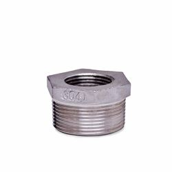 "304 Stainless Steel Bushing 1.25"" x .75"" bushing, stainless steel fitting, stainless steel bushing, stainless steel 304, 304, threaded, threaded pipe fitting, hexagon bushing, SSLB1207"