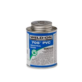 Weld-On 10098 PVC 705 Industrial Grade Cement Half Pint pvc compound, PVC glue, cement, PVC Cement, primer, glue, pvc cleaner, hot glue, pvc primer, pipe primer, P-70, p70, Weld On, weldon, 10098