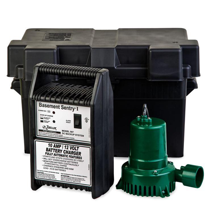 Zoeller Backup Sump Pumps Zoeller Basement Sentry 507
