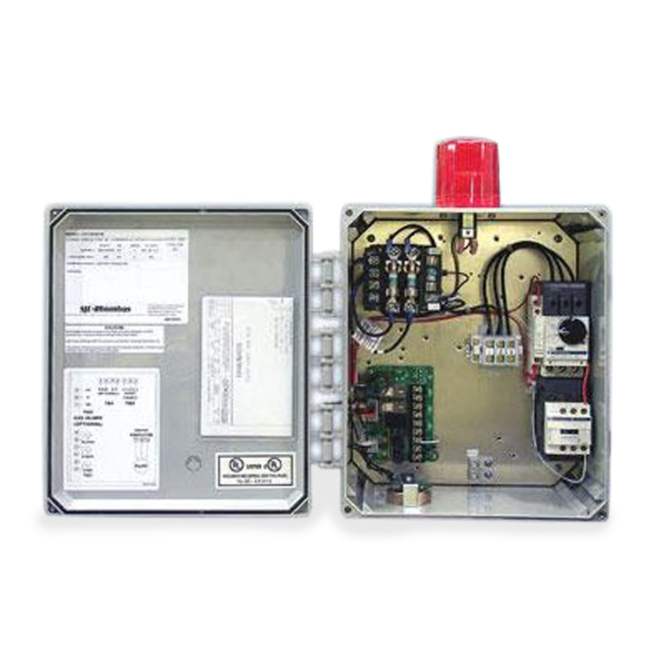 Sje Rhombus Model 312 3 Phase 208 240 480 600v Simplex Examine This Threephase Motor Control Circuit Where Fuses Protect Contactor Panel Cp Sje312