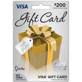 $200 Prepaid Visa Debit Card