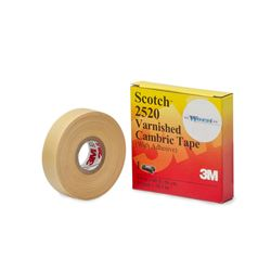 "Scotch 2520 Varnished Cambric Tape w/ Adhesive 3/4""x60' cambric, cambric tape, varnish tape"