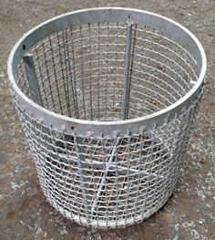 "Strainer Basket Clip On 12"" ID X 12"" Long Galvanized"