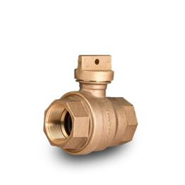 "A.Y. McDonald 76101 Flathead Curb Stop Ball Valve FNPT X FNPT 1.5"" Brass  Brass valves, service fittings, brass fittings, A.Y. McDonald Valves, A.Y. McDonald Service Fittings, polylock fittings, ford fittings, ball valves, brass ball valves"