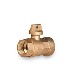 "A.Y. McDonald 76101 No Lead Flathead Curb Stop Ball Valve FNPT X FNPT 1.25"" Brass Brass valves, service fittings, brass fittings, A.Y. McDonald Valves, A.Y. McDonald Service Fittings, polylock fittings, ford fittings, ball valves, brass ball valves"