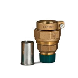 "A.Y. McDonald 74753-33 Straight Coupling MNPT Thread X PEP 1.25"" Brass W/ 6136 SS Pipe Stiffener ford fittings, polylock fittings, polyloc fittings, service fittings, poly pipe fittings, Brass valves, service fittings, brass fittings, A.Y. McDonald Valves, A.Y. McDonald Service Fittings, polylock fittings, ford fittings, ball valves, brass ball valves"
