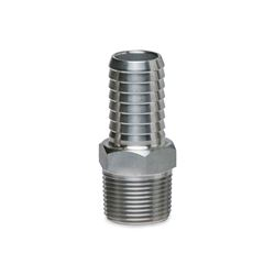 "American Granby SSMA1 Stainless Steel Male Insert Adapters 1.0"" MPT x 1.0"" INS  Stainless Steel, Insert, insert fittings, ss fittings, ss insert, 90, slip slip, male adapter, ma, steel insert, brass insert, no lead"