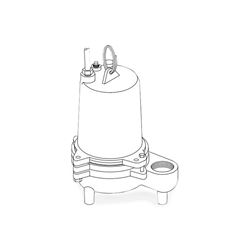 Barnes SE411VF Submersible Sewage Ejector Pump 0.4 HP 115V 1PH 15 Cord Automatic sewage ejector pumps, sewage pumps, barnes series se-411/421 pumps, solids handling.