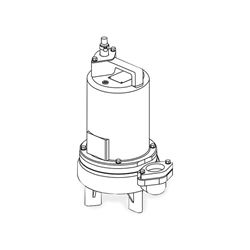 Barnes 2SEV514L Submersible Sewage Ejector Pump 0.5 HP 115V 1PH 20 Cord Manual sewage ejector pumps, sewage pumps, barnes series se-411/421 pumps, solids handling.