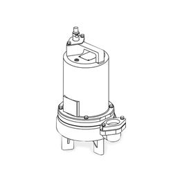 Barnes 2SEV1024L Submersible Sewage Ejector Pump 1.0 HP 230V 1PH 20 Cord Manual sewage ejector pumps, sewage pumps, barnes series se-411/421 pumps, solids handling.