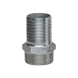 "American Granby SSMA2 Stainless Steel Male Insert Adapters 2.0"" MPT x 2.0"" INS  Stainless Steel, Insert, insert fittings, ss fittings, ss insert, 90, slip slip, male adapter, ma, steel insert, brass insert, no lead"