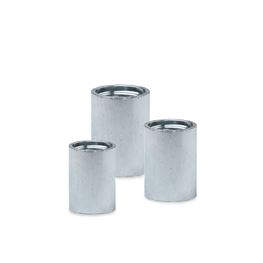 "Heavy Duty Galvanized Steel Driver Coupling 1-1/4"" drive coupler, shallow well, galvanized coupling, coupling, couple, drive"