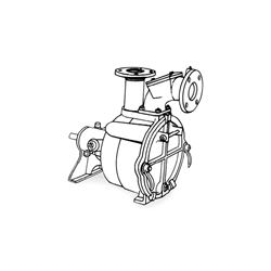 Crown PO3LA-7B Self-Priming Solids Handling Pump Crown self priming pumps, self priming solids handling pumps, crown self priming solids handling pump