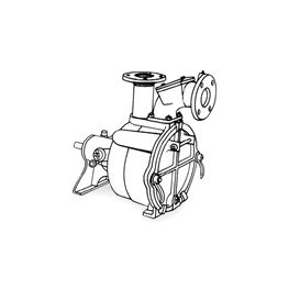 Crown PO3LC-8L Self-Priming Solids Handling Pump Crown self priming pumps, self priming solids handling pumps, crown self priming solids handling pump