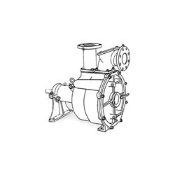 Crown PO4LA-9D Self-Priming Solids Handling Pump Crown self priming pumps, self priming solids handling pumps, crown self priming solids handling pump