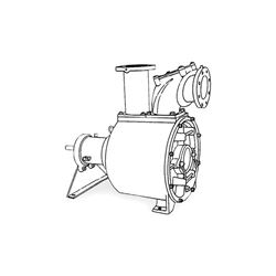 Crown PO6LB-12F Self-Priming Solids Handling Pump Crown self priming pumps, self priming solids handling pumps, crown self priming solids handling pump