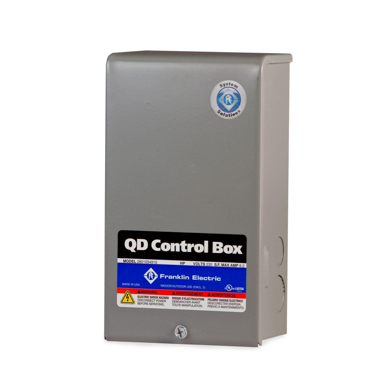 1//2 HP 230V Franklin QD Control Box Submersible Water Pump # 2801054915