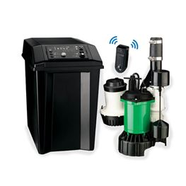 Myers MBSP-3C Premium Smart Battery Back-up Sump Pump System 46 GPM Myers MBSP Battery Backup Pump,