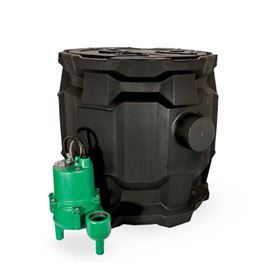Myers SB24SRM Packaged Sewage System 0.4 HP 115V 20 Cord Myers SB24SRM, SB24SRM sewage basin package