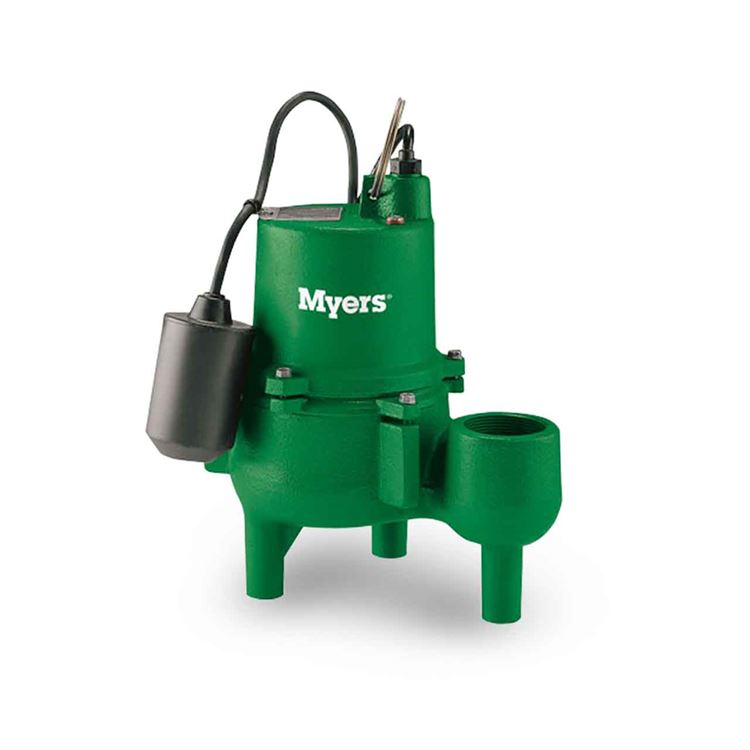 Myers myers srm4m1c sewage pump 0. 4 hp 115v 1 ph 20' cord manual.