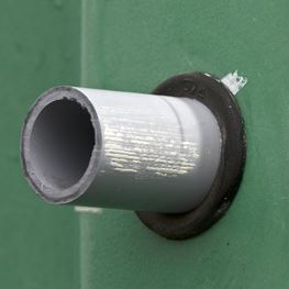 How to seal pvc electrical conduit wall penetration