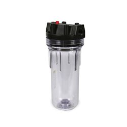 "Pentek 150435 Clear Water Filter Housing #10 w/PR 3/4"" 150435, Filters, filter housings, clear housing, #10, valve-in-head, VIH, filtration, whole house filtration, pentak 150435,  PTK150435"
