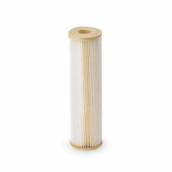 "Pentek ECP1-10 Pleated Cellulose Polyester Cartridge 2.5"" X 10"" 1 Micron   Aqua-Pur AP810-2,3M Purification AP810-2,Everpur DEV9108-41,Shurflo 15-054-02PP30-BB, pleated poly filter, sediment filtration, filter, sediment filter, progressive filter, housing, 4X20, 4.5X20, filtration, 5 micron,"