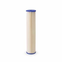 "Pentek ECP20-10 Pleated Cellulose Polyester Cartridge 2.5"" X 10"" 20 Micron Aqua-Pur AP810-2,3M Purification AP810-2,Everpur DEV9108-41,Shurflo 15-054-02PP30-BB, pleated poly filter, sediment filtration, filter, sediment filter, progressive filter, housing, 4X20, 4.5X20, filtration, 5 micron,"