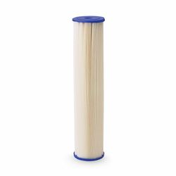 "Pentek ECP20-20 Pleated Cellulose Polyester Cartridge 2.5"" X 20"" 20 Micron  Aqua-Pur AP810-2,3M Purification AP810-2,Everpur DEV9108-41,Shurflo 15-054-02PP30-BB, pleated poly filter, sediment filtration, filter, sediment filter, progressive filter, housing, 4X20, 4.5X20, filtration, 5 micron,"