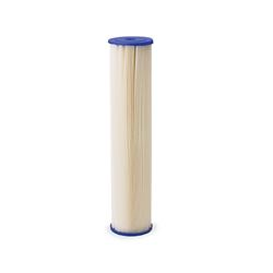 "Pentek ECP20-BB Pleated Cellulose Polyester Cartridge 4.5"" X 10"" 20 Micron  Aqua-Pur AP810-2,3M Purification AP810-2,Everpur DEV9108-41,Shurflo 15-054-02PP30-BB, pleated poly filter, sediment filtration, filter, sediment filter, progressive filter, housing, 4X20, 4.5X20, filtration, 5 micron,"