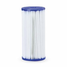 "Pentek R30-BB Pleated Polyester Cartridge 4.5"" X 10"" 30 Micron polyster cartridge, pleated polyester filter, bacteria resistant, chemical resistant, pentek r series pleated polyester cartridge"