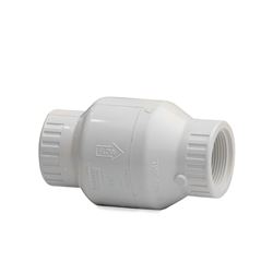 "Spears PVC Swing Check Valve 1/2"" S1520-05F  FIPT Threaded PVC Stopper, PVC, PVC Check, stopper valve, checkvalve, check valve, valve, inline check, in line check, well check valve, flapper check"