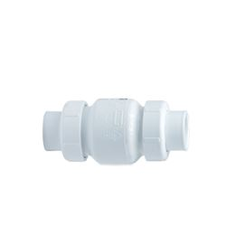 "Spears True-Union PVC Spring Check Valve 1.5"" S1780-15 Socket Union, union check, true-union, true union, spring, spring check, PVC Stopper, PVC, PVC Check, stopper valve, checkvalve, check valve, valve, inline check, in line check, well check valve,"