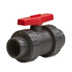 "TVI 0200SBBML Safety Block True Union Ball Valve 2"" Socket and Threaded ball valve, tru union valves, quarter turn ball valve, union valve, PVC valve, plastic valve, sewer valve, 0150SBFML, 0150SBTML, 0150SBSML"