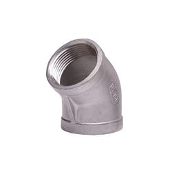 "304 Stainless Steel 45° Elbow 1.25"" elbow, stainless steel fitting, stainless steel elbow, stainless steel 304, 304, threaded, threaded pipe fitting, ninety degree elbow, SSLL9012"